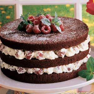 Chocolate Torte with Raspberry Filling Recipe