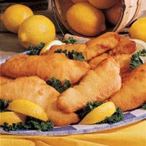 Lemon-Batter Fish Recipe