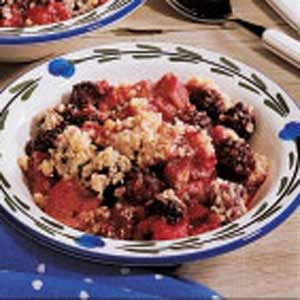Rhubarb Elderberry Crisp Recipe