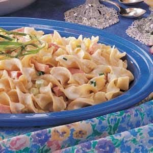 Hurry-Up Ham N Noodles Recipe
