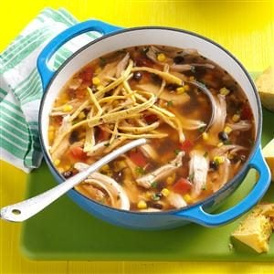 Fiesta Turkey Tortilla Soup Recipe