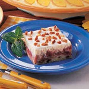 Rhubarb Cheesecake Layer Dessert Recipe