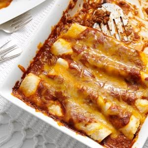 Garlic Beef Enchiladas