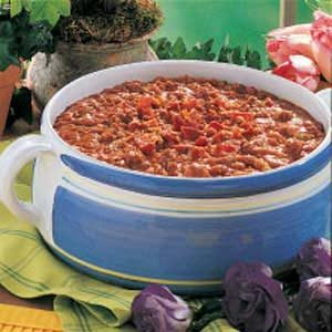 Western-Style Beef and Beans Recipe | Taste of Home
