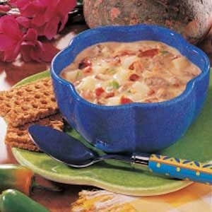 Spicy Cheeseburger Soup