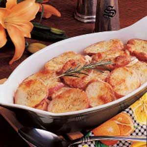 Parmesan Potato Rounds Bake Recipe
