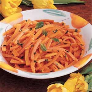 Buttery Mint Carrots Recipe