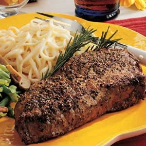 Peppercorn Steaks Recipe photo by Taste of Home