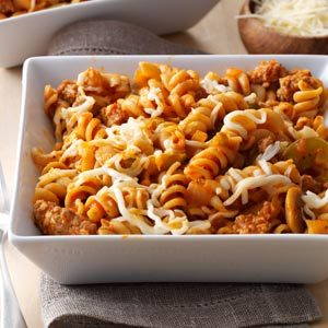 Sausage Pizza Pasta Recipe