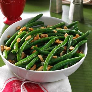 Roasted Garlic Green Beans with Cashews Recipe