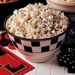 Parmesan-Garlic Popcorn Snack Recipe