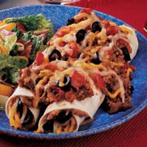 Beef-Topped Bean Enchiladas Recipe