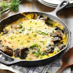Creamy Eggs & Mushrooms Au Gratin