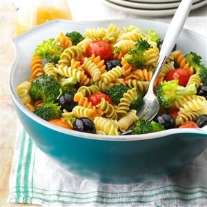 Colorful Spiral Pasta Salad Recipe