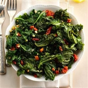 Warm Tasty Greens with Garlic Recipe