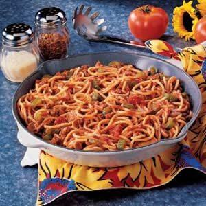 Spaghetti Skillet Recipe