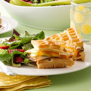 Chicken & Apple Waffle Sandwiches Recipe
