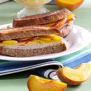 Peach Turkey Sandwiches