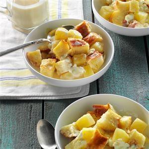 Pineapple & Cream Cheese Bread Pudding Recipe