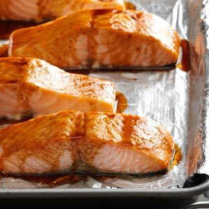 Hoisin & Honey Glazed Salmon