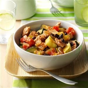 Mediterranean Turkey Skillet Recipe