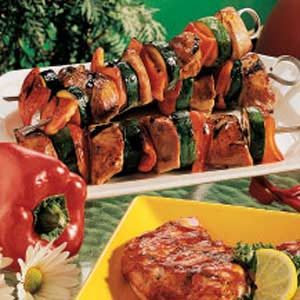Teriyaki Pork Kabobs Recipe