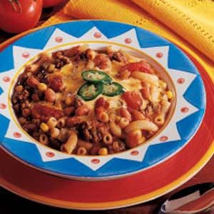 Zesty Macaroni Soup Recipe