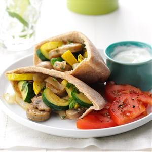Chicken Sausage Pita Pockets