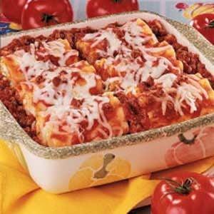 Meat lasagna rolls recipes