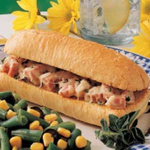 Hot 'n' Hearty Ham Subs Recipe