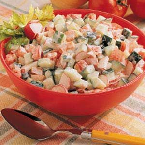 Creamy Summer Vegetable Salad Recipe