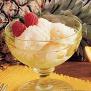 Honey Pineapple Sherbet Recipe