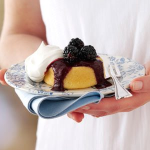 Blackberry-Topped Sponge Cakes Recipe