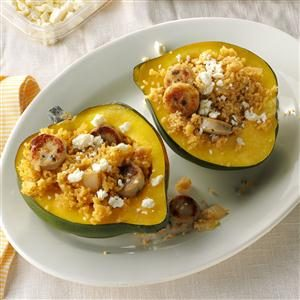 Couscous & Sausage-Stuffed Acorn Squash Recipe