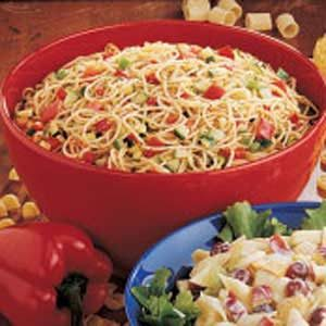 how to make pasta salad with spaghetti noodles