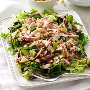Chicken & Apple Salad with Greens Recipe