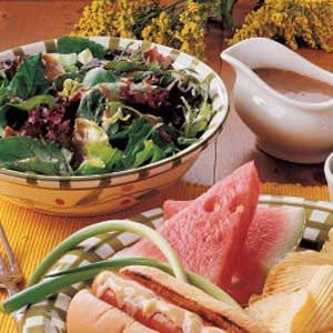Hot Bacon-Mustard Dressing Recipe