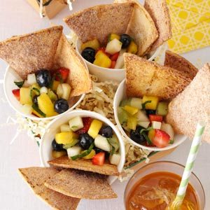 Fresh Fruit Salsa with Cinnamon Chips Recipe