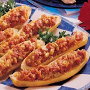 Ham-Stuffed Squash Boats Recipe