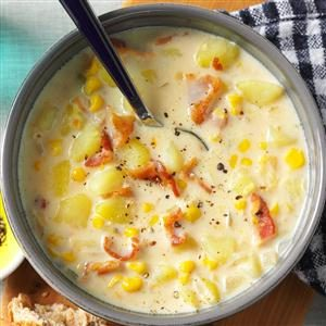 Bacon-Potato Corn Chowder Recipe photo by Taste of Home