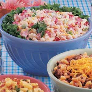 Ham and Shrimp Macaroni Salad Recipe