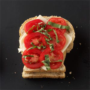 Tomato-Basil Grilled Cheese Sandwiches Recipe