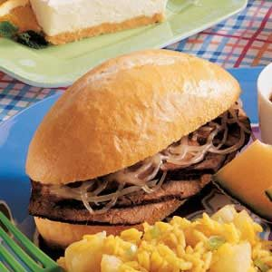 French Dip Sandwich with Onions Recipe