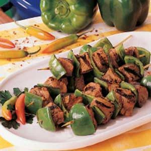 Peanutty Pork Kabobs Recipe