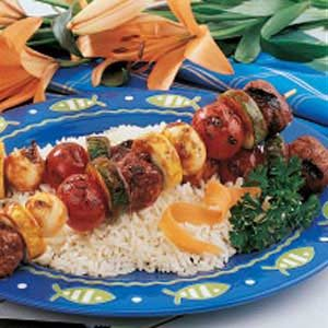 Meatball Shish Kabobs Recipe