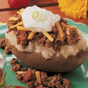 Taco-Topped Potato Recipe