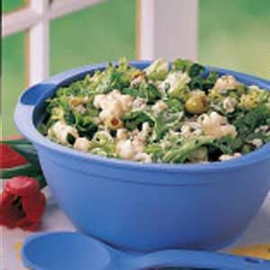 Tossed Salad with Spinach Dressing Recipe