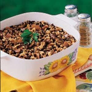 Mushroom Wild Rice Bake Recipe