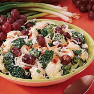 Cauliflower Broccoli Salad Recipe