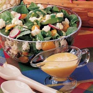 Spinach Cauliflower Salad Recipe